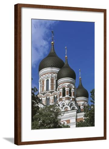 Low Angle View of a Cathedral, Alexander Nevsky Cathedral, Tallinn, Estonia--Framed Art Print