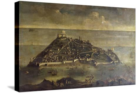 Tabarca Island, Painting by Unknown Venetian Artist, Tunisia, 17th Century--Stretched Canvas Print