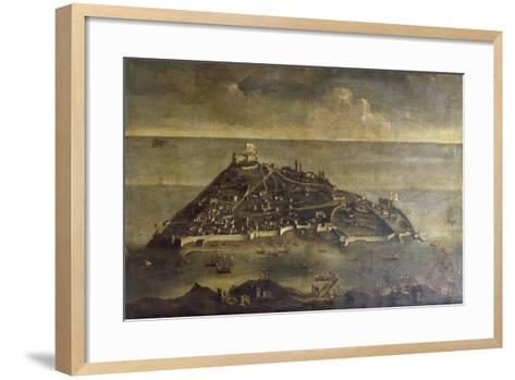 Tabarca Island, Painting by Unknown Venetian Artist, Tunisia, 17th Century--Framed Art Print