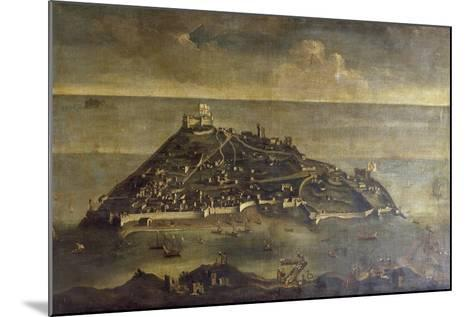 Tabarca Island, Painting by Unknown Venetian Artist, Tunisia, 17th Century--Mounted Giclee Print