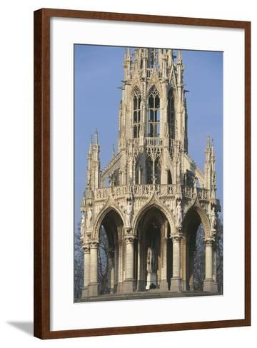Low Angle View of a Monument, Monument Leopold I, Laeken, Brussels, Belgium--Framed Art Print
