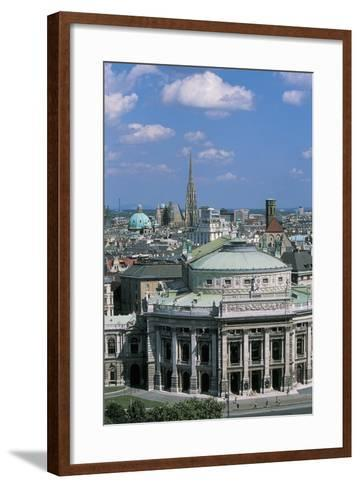 High Angle View of a Theater Building in a City, Burgtheater, Vienna, Austria--Framed Art Print