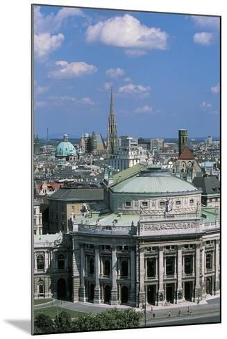 High Angle View of a Theater Building in a City, Burgtheater, Vienna, Austria--Mounted Giclee Print