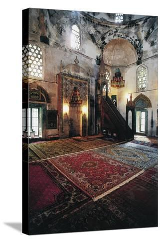 Interior of Mosque in Mostar (Unesco World Heritage List, 2005), Bosnia and Herzegovina--Stretched Canvas Print