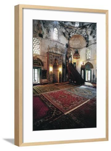 Interior of Mosque in Mostar (Unesco World Heritage List, 2005), Bosnia and Herzegovina--Framed Art Print