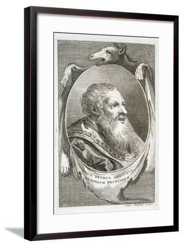 Portrait of Italian Writer, Poet and Scriptwriter Pietro Aretino by Giuseppe Patrini,--Framed Art Print