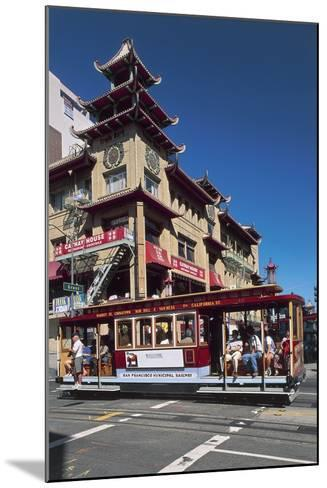 Tram in Front of a Building, Grant Avenue, Chinatown, San Francisco, California, Usa--Mounted Giclee Print