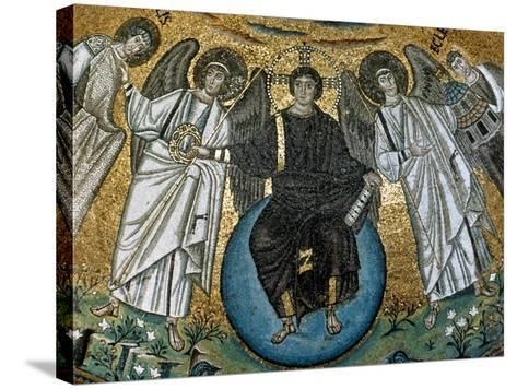 Christ Surrounded by Angels, St. Vitalis and Bishop Ecclesius. Apse. 6Th. Ravenna. Italy--Stretched Canvas Print