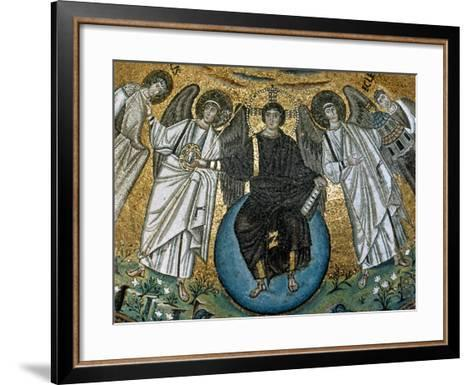 Christ Surrounded by Angels, St. Vitalis and Bishop Ecclesius. Apse. 6Th. Ravenna. Italy--Framed Art Print