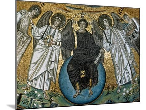 Christ Surrounded by Angels, St. Vitalis and Bishop Ecclesius. Apse. 6Th. Ravenna. Italy--Mounted Giclee Print