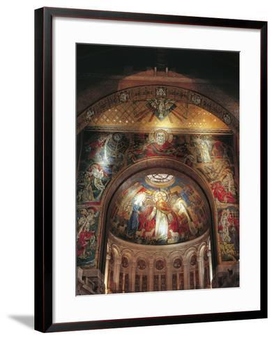 Mural on the Wall of a Basilica, St. Therese's Basilica, Lisieux, Basse-Normandy, France--Framed Art Print