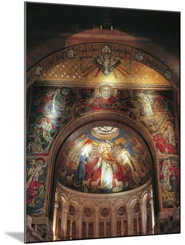Mural on the Wall of a Basilica, St. Therese's Basilica, Lisieux, Basse-Normandy, France--Mounted Giclee Print