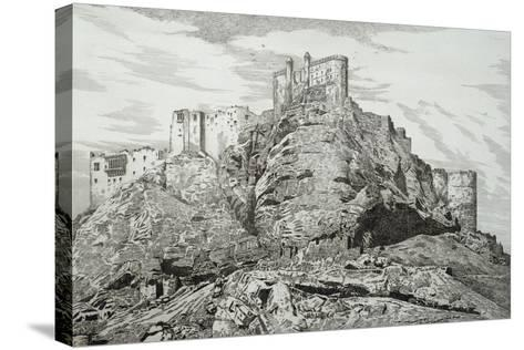 Abdullah Khan's Castle (Kurdistan), 1857, by Felix Thomas (1815-1875)--Stretched Canvas Print