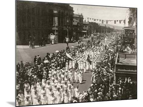 Women Holding a Peace Day March Along King William Street, Adelaide, South Australia, November 1918--Mounted Giclee Print