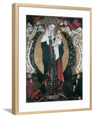 The Assumption of Destna, Ca 1450, by Unknown Artist, Bohemia, 15th Century--Framed Art Print