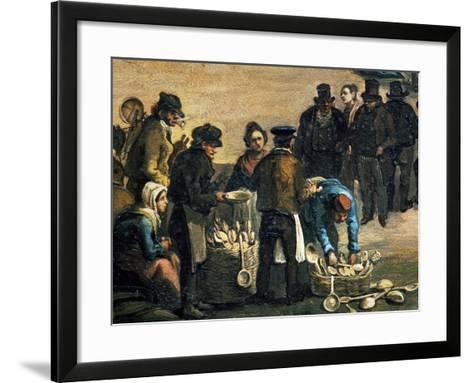 Feast of St Michael, Detail of Wooden Spoon Seller, 1840, Painting by Carlo Ferrari (1813-1871)--Framed Art Print