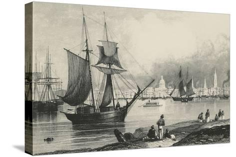 New Orleans in Louisiana, United States of America, 19th Century--Stretched Canvas Print