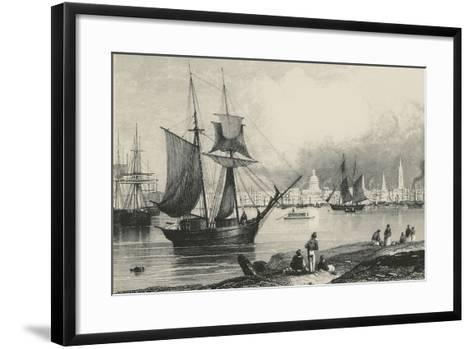 New Orleans in Louisiana, United States of America, 19th Century--Framed Art Print