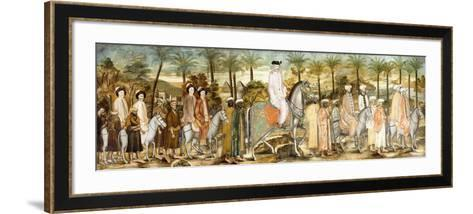 European Gentlemen in Procession of Orientals, C.1720 (Ink and W/C on Paper, Laid Down on Cotton)--Framed Art Print