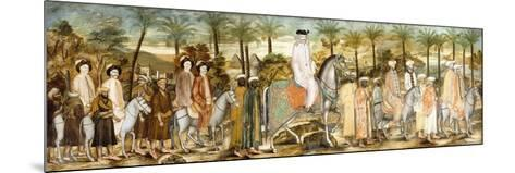 European Gentlemen in Procession of Orientals, C.1720 (Ink and W/C on Paper, Laid Down on Cotton)--Mounted Giclee Print