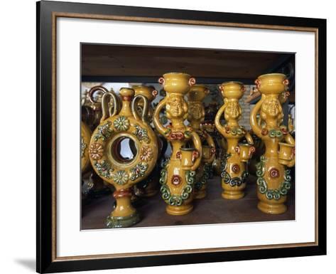 Ceramic Creations Handcrafted in Workshop of Giuseppe Ferraro, Seminara, Calabria, Italy--Framed Art Print