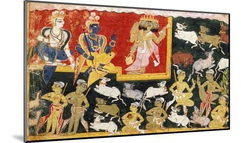 Brahma Offering Homage to Krishna as the Incarnation of Vishnu, C.1540-1575--Mounted Giclee Print
