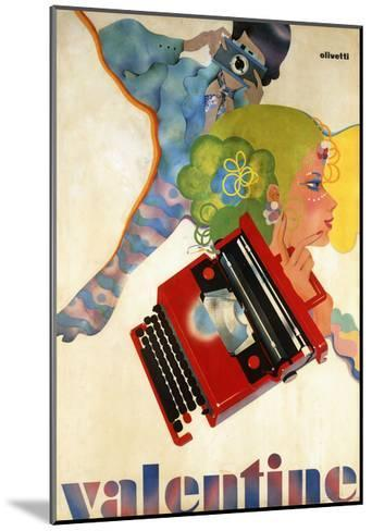 An Olivetti 'Valentine' Typewriter Promotional Poster, C.1969 (Colour Print, Wooden Frame)--Mounted Giclee Print