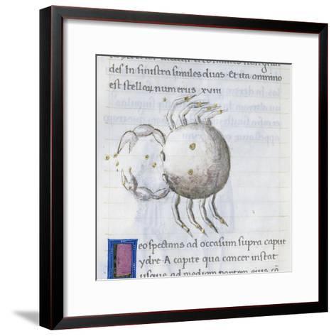 Cancer, Miniature from De Astronomia, by Hyginus, Ms, Aldini 490, F 88 V. Italy, 15th Century--Framed Art Print