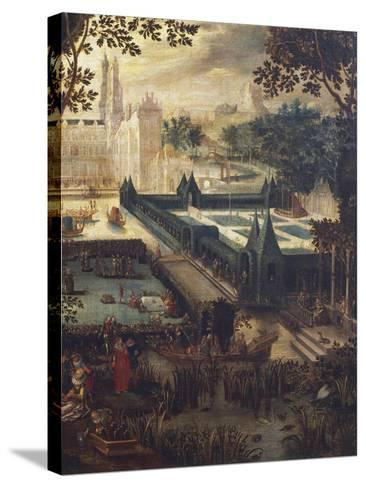 Garden of Love, Painting by Flemish School, 18th Century after Copy by David Vinckboons (1576-1632)--Stretched Canvas Print