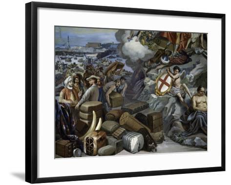 Ligurian Trade, Painting by Giuseppe Isola (1808-1893), Italy, 19th Century--Framed Art Print