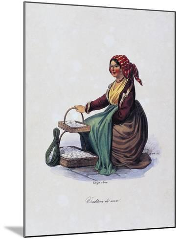 Egg Seller, by Gaetano Dura (1805-1878), Lithograph, Italy, 19th Century--Mounted Giclee Print