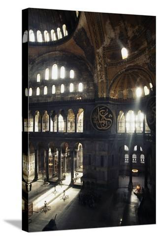 Interior of the Hagia Sophia, 6th-16th Century, Istanbul (Unesco World Heritage List, 1985), Turkey--Stretched Canvas Print