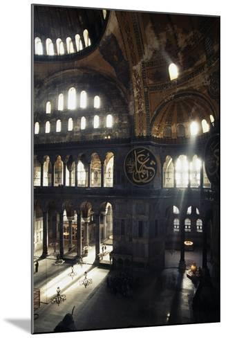 Interior of the Hagia Sophia, 6th-16th Century, Istanbul (Unesco World Heritage List, 1985), Turkey--Mounted Photographic Print
