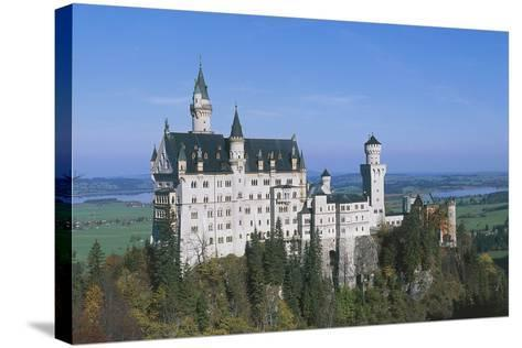 Neuschwanstein Castle, 1869-1886, Built by King Ludwig II of Bavaria, Near Fussen, Bavaria, Germany--Stretched Canvas Print