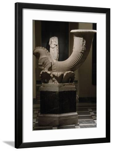 Fountain in the Form of a Horn-Shaped Drinking Cup (Rhyton) Signed by Pontios Marble. Capitoline Mu--Framed Art Print