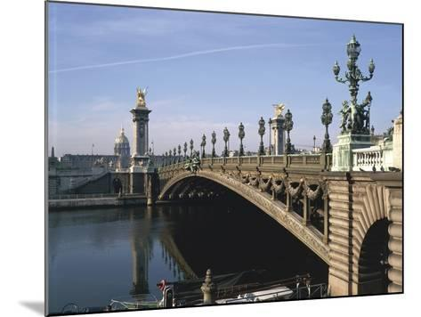 Arch Bridge across a River, Pont Alexandre Iii, Seine River, Paris, France--Mounted Giclee Print