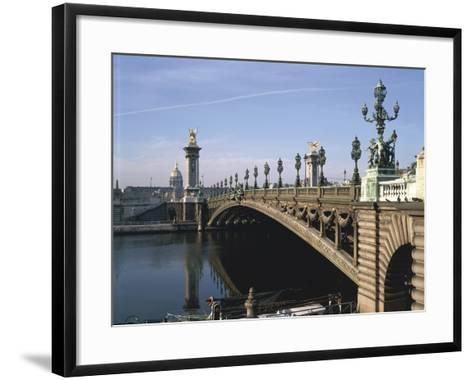 Arch Bridge across a River, Pont Alexandre Iii, Seine River, Paris, France--Framed Art Print