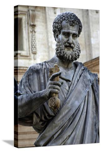 St. Peters Statue. Sculpted from 1838-1840 by Venetian Sculptor Giuseppe De Fabris (1790-1860). St.--Stretched Canvas Print