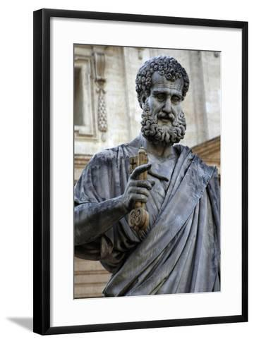 St. Peters Statue. Sculpted from 1838-1840 by Venetian Sculptor Giuseppe De Fabris (1790-1860). St.--Framed Art Print