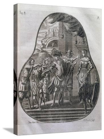 San Romedius Distributing His Wealth to Poor, Italy, 17th Century--Stretched Canvas Print