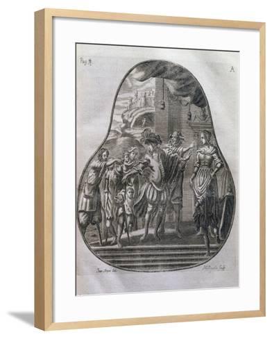 San Romedius Distributing His Wealth to Poor, Italy, 17th Century--Framed Art Print