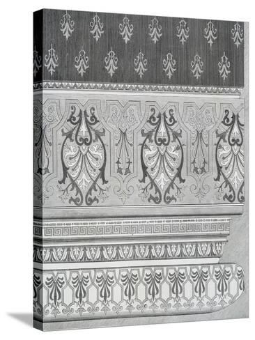Room Decoration from Arts and Crafts Guide, England, 19th Century--Stretched Canvas Print