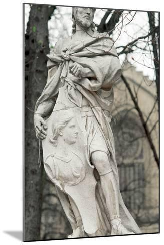 Ataulf. Germanic King of the Visigoths from 410 to 415. Statue. Vitoria-Gasteiz. Basque Country. Sp--Mounted Photographic Print