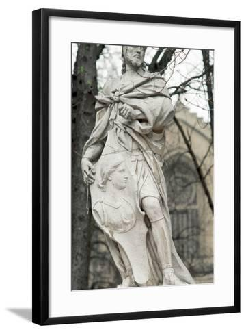 Ataulf. Germanic King of the Visigoths from 410 to 415. Statue. Vitoria-Gasteiz. Basque Country. Sp--Framed Art Print