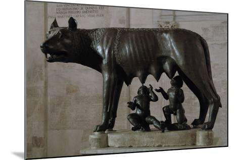 The Capitoline Wolf (Lupa Capitolina) Suckling Romulus and Remus. the Capitoline Museums. Rome. Ita--Mounted Photographic Print