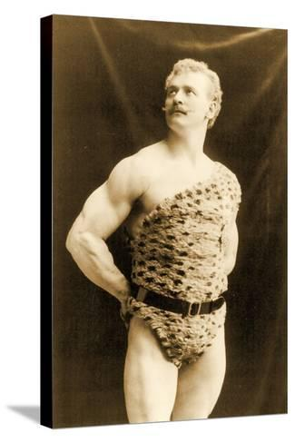 Eugen Sandow Wearing Leopard Skin, in Classical Ancient Greco-Roman Pose, C.1894--Stretched Canvas Print