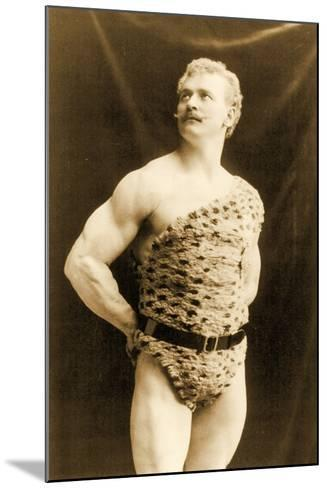 Eugen Sandow Wearing Leopard Skin, in Classical Ancient Greco-Roman Pose, C.1894--Mounted Photographic Print