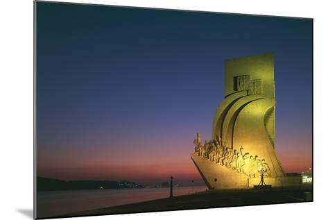 Monument to Discoveries, 1960, on Bank of Tagus River, Night View, Belem District, Portugal, Detail--Mounted Photographic Print