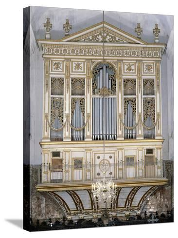 Low Angle View of a Pipe Organ in a Church, San Martino Abbey, Sicily, Italy--Stretched Canvas Print