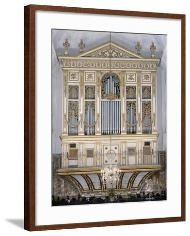 Low Angle View of a Pipe Organ in a Church, San Martino Abbey, Sicily, Italy--Framed Art Print
